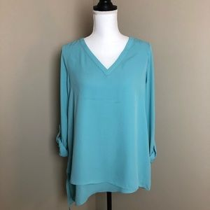 Blue blouse from The Limited